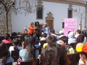 Dr-ª Rosa Caetano e os Actores Teatro Bocage