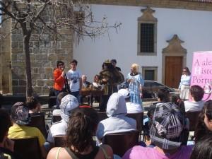 Dr-ª Rosa Caetano e os Actores Teatro Bocage.
