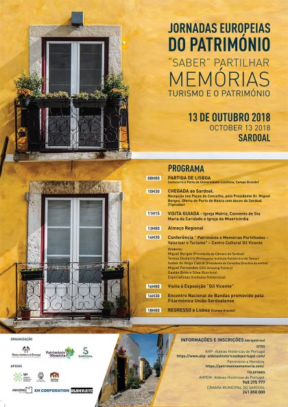 Jornadas Europeias do Património 2018 - Sardoal